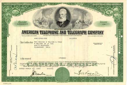 What ares – Stock Certificate Example